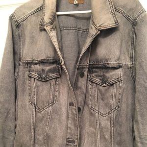 Grey American Eagle xxl denim jacket